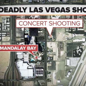 171002 las vegas shoting map sat image bbac80afcfcd8c108098bc26c8c3af40.nbcnews fp 360 360 - 50 People Dead, More Than 400 Hurt in Las Vegas Mass Shooting