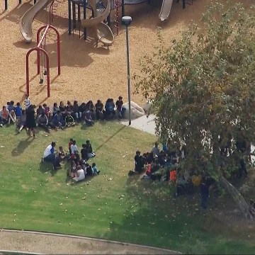 Image: A parent was holding a teacher hostage in a classroom at Castle View Elementary School in Riverside, California