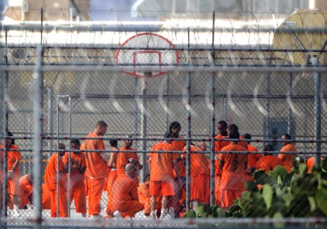 Image: Inmates gather in the yard at Arizona State Prison-Kingman in Golden Valley on July 4, 2015.