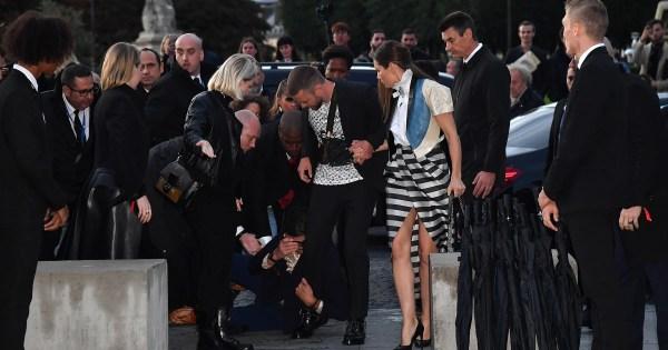 Man lunges at Justin Timberlake at Paris Fashion Week - see the video