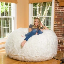 lovesac pillow and other comfy chairs