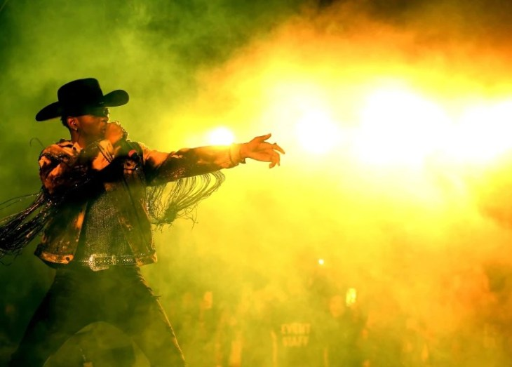Image: Lil Nas X performs onstage during the 2019 Stagecoach Festival at Empire Polo Field