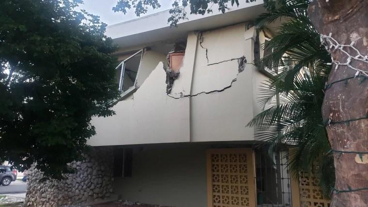 Image: Earthquake damage in Yauco, Puerto Rico on Jan. 7, 2020.