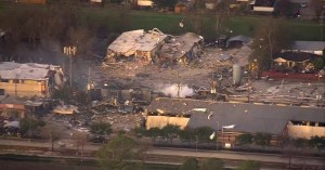 Houston building explosion is felt for miles, scatters debris