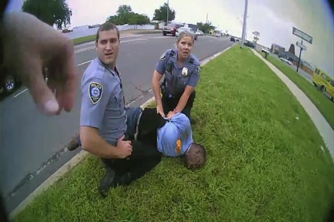 Body camera video during the arrest of Derrick Elliot Scott on May 20, 2019 in Oklahoma City, Oklahoma.