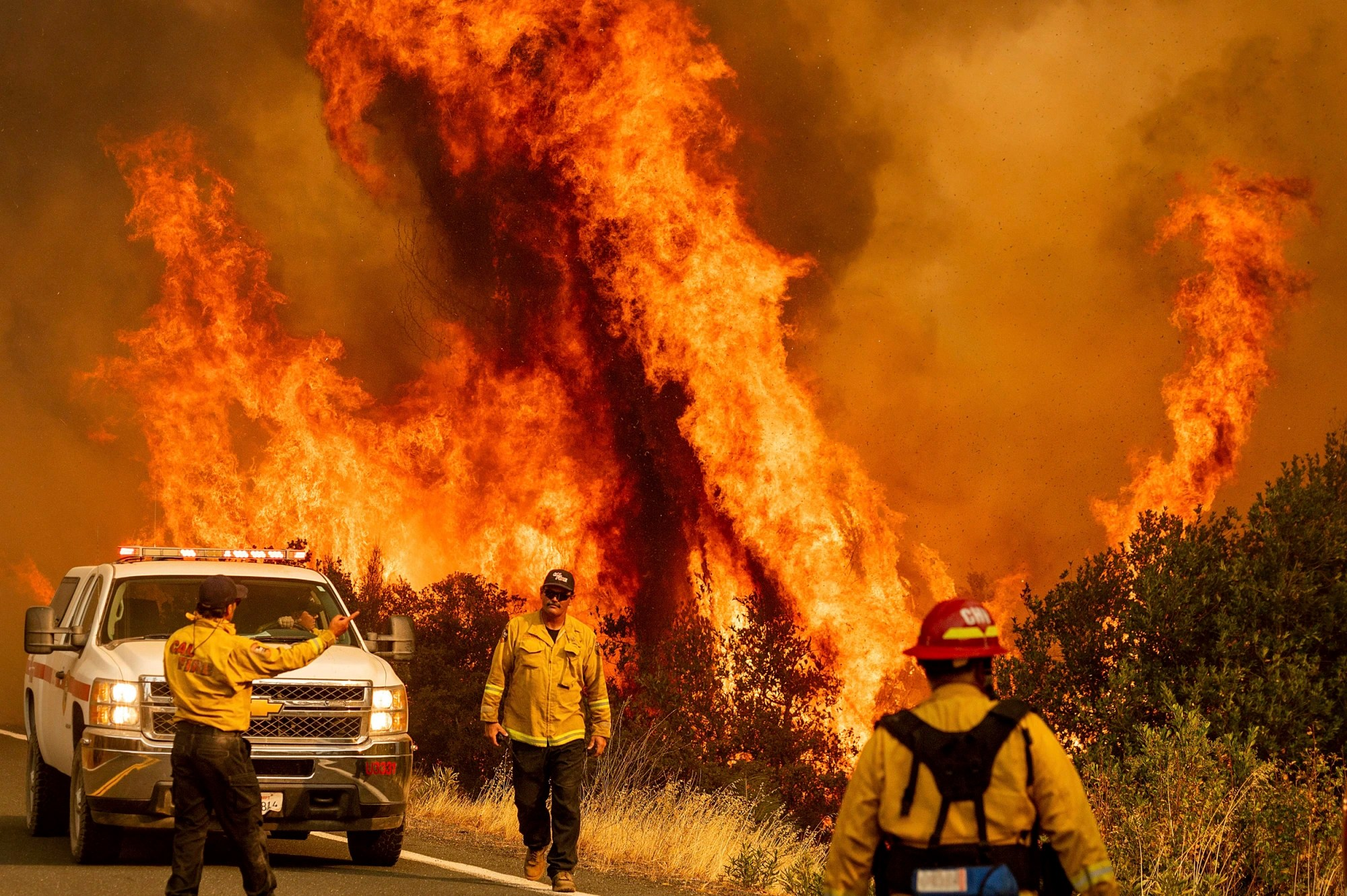 California wildfires and COVID-19