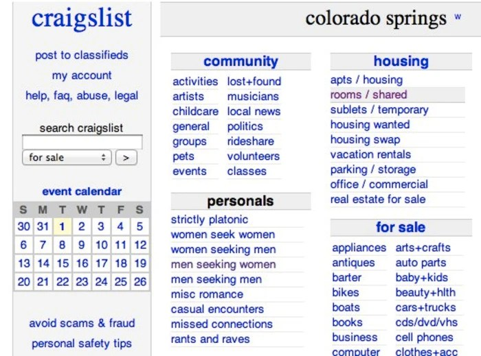 Craigslist Colorado Springs Colorado