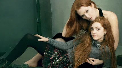 Image: Julianne Moore and daughter