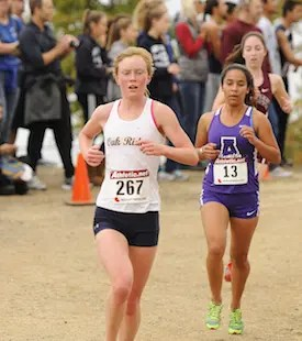 Maddy Denner makes her way down a slope during the Div. I Race