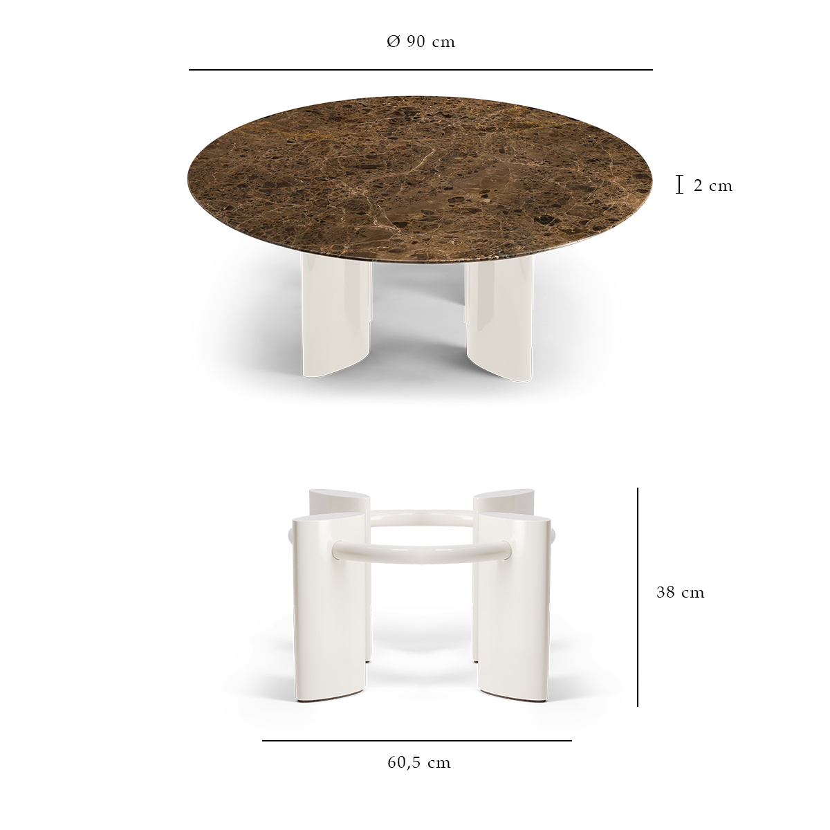 cream and brown marble coffee table
