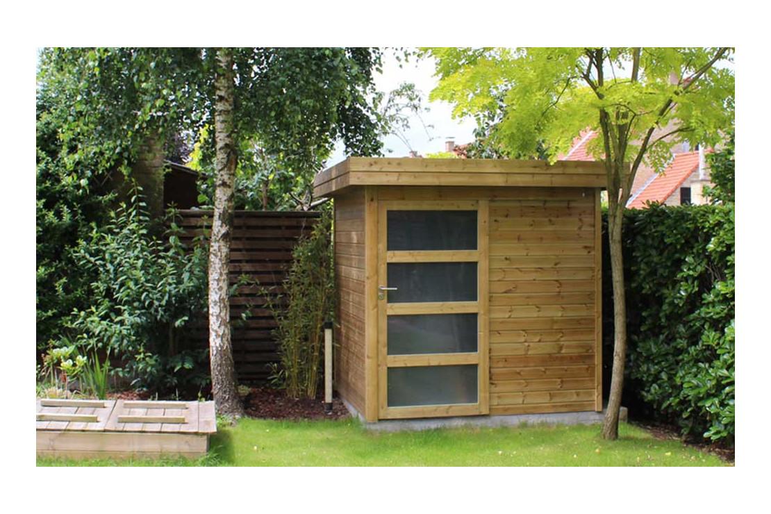 abri de jardin vintage traite autoclave facade 275x225cm panneaux 16mm