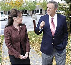 Gov. Sarah Palin talks with ABC News's Charlie Gibson in Alaska.