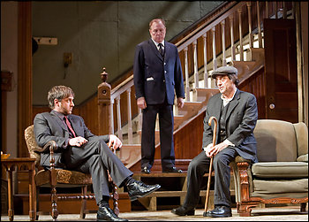 """From left, Raul Esparza, Michael McKean and Ian McShane in a 2007 Broadway production of """"The Homecoming,"""" considered one of Harold Pinter's classic works."""
