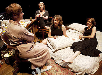 """HOT MAMA: Estelle Parsons (from left), Angelica Torn, Amy Warren and Shannon Cochran in """"August: Osage County."""" (Robert J. Saferstein)"""
