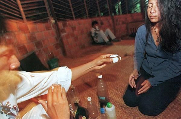 Taking ayahuasca