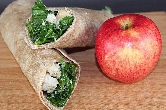 Kale Chicken Caesar Wrap