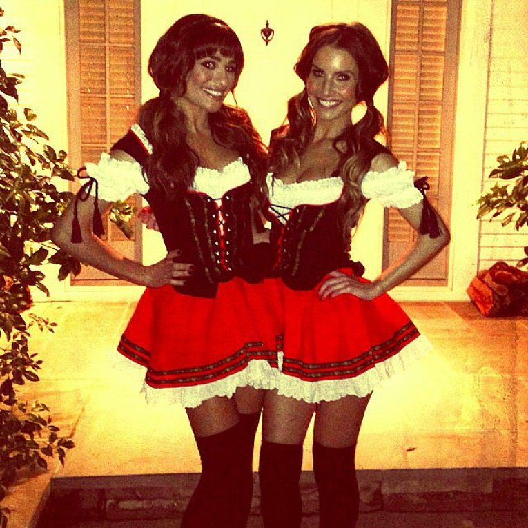 Lea Michele sported matching costumes with a friend for Halloween.<br /><br /> Source: Instagram user msleamichele<br /><br />