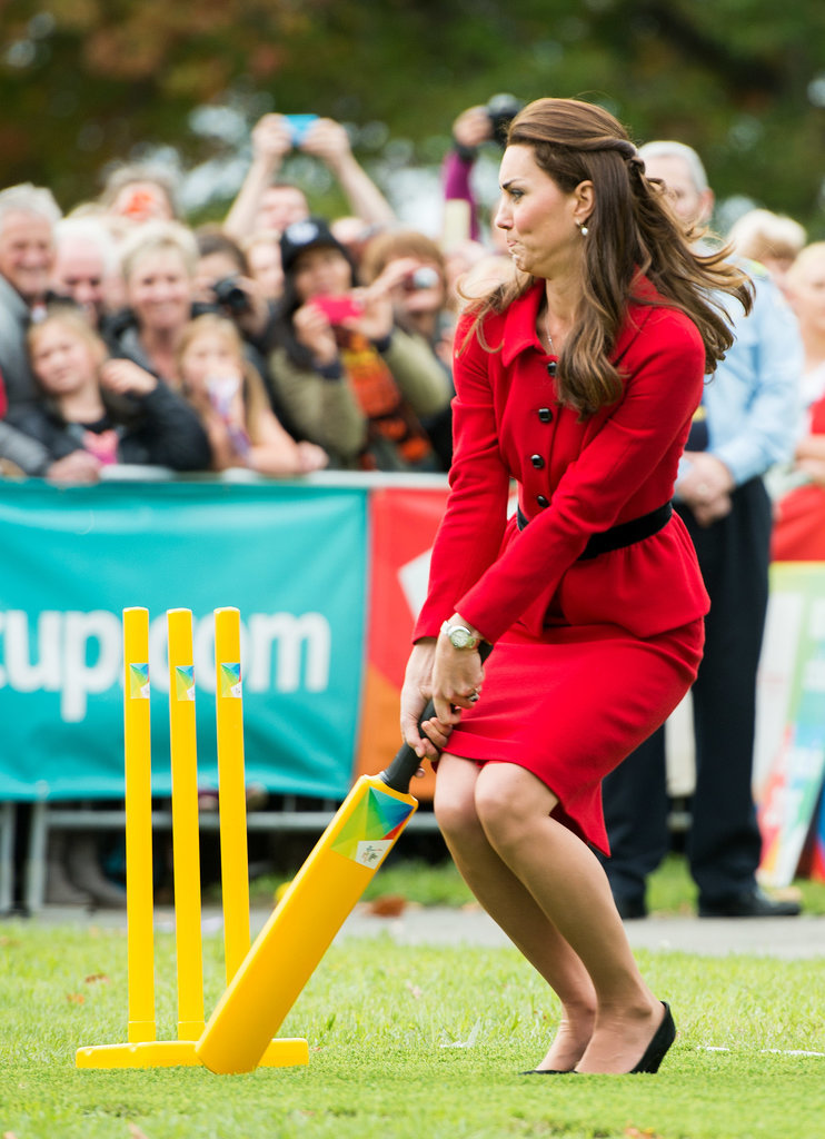 Kate narrowly avoided getting hit by a ball while playing cricket in | Will and Kate Keep Their