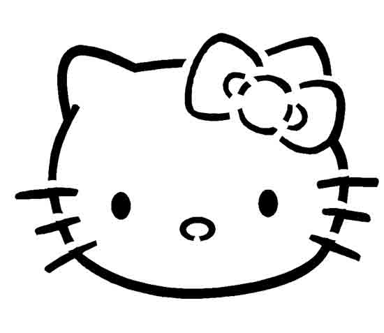 Hello Kitty Pumpkin Stencil.