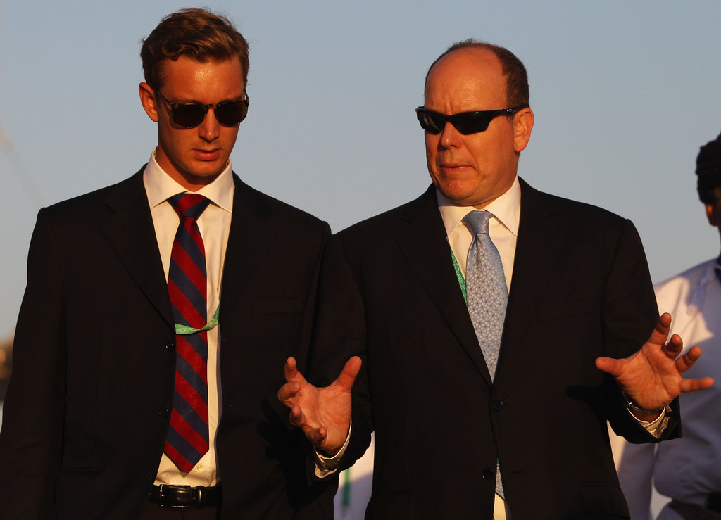 Prince Albert II of Monaco and Pierre Casiraghi attend the Asian | Who Is Prince Pierre