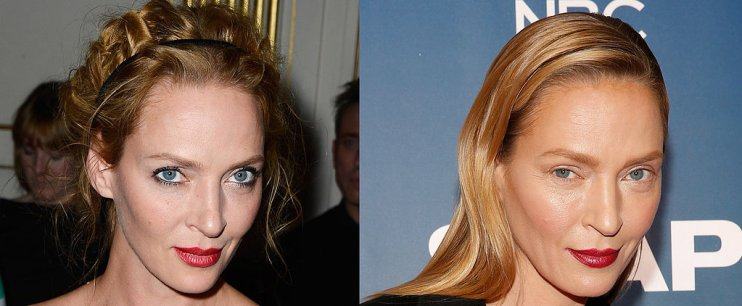 Whoa! Uma Thurman Hits the Red Carpet With a New Look