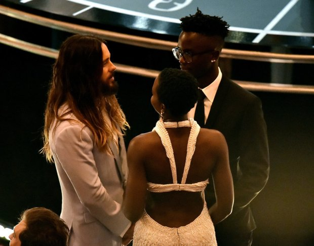 Lupita Nyong'o and Her Brother Peter Jr. Circled Up With Jared Leto