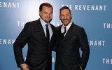 I candidati Leonardo DiCaprio e Tom di Oscar resistenti portano i loro buoni sguardi a Londra