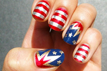 Red White And Blue Nails 4k Pictures 4k Pictures Full Hq Wallpaper
