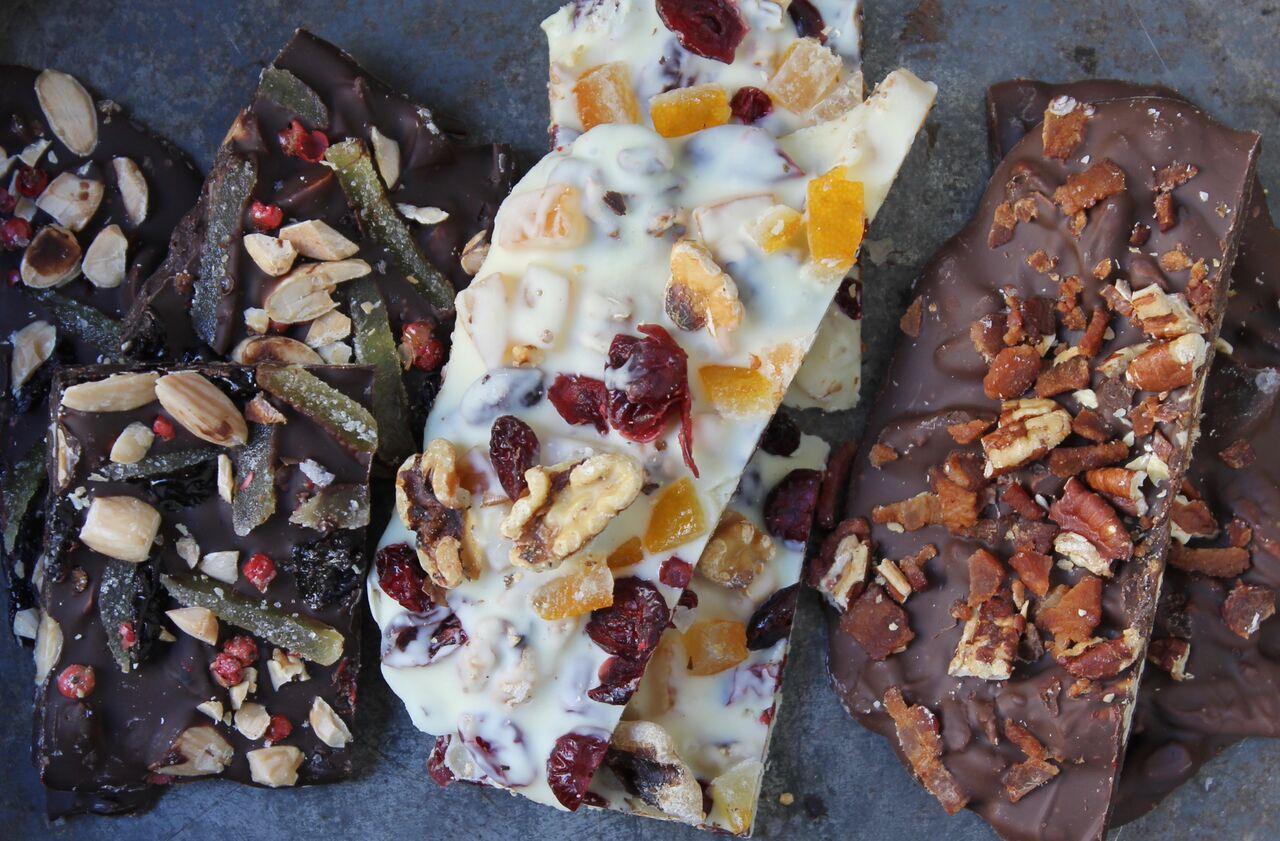 Microwavable Chocolate Bark 3 Ways