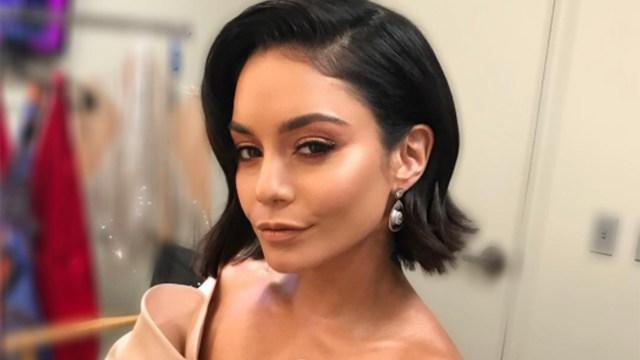 vanessa hudgens has a new haircut with bangs, wavy locks