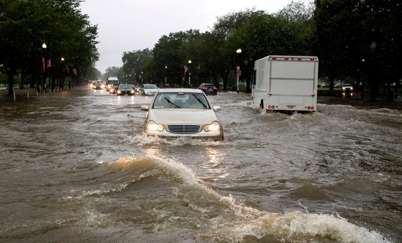Image result for Dangerous flash floods hit Washington DC area