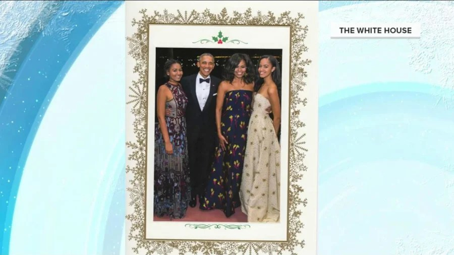 The Obamas Send Their Final White House Christmas Card