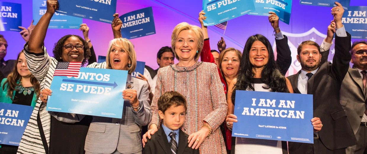 Image result for photos of hispanics for hillary