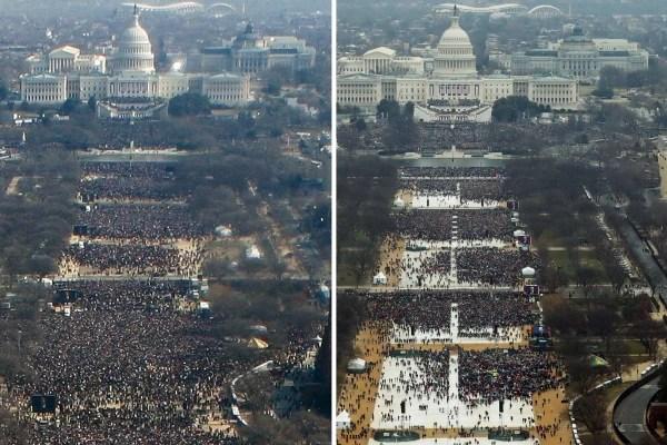 Inauguration crowd photos.