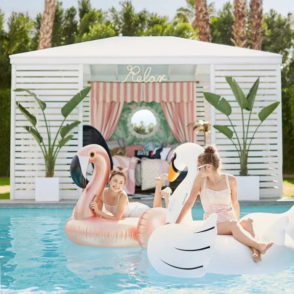 Swan pool float seen on Today Show Steals and Deals