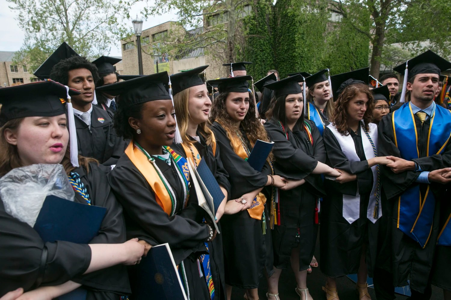 Students walk out of Mike Pence's commencement address