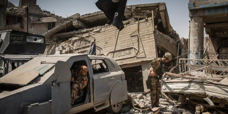 Image: An unused car bomb from the Islamic State group in Mosul, Iraq.