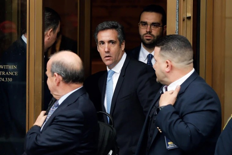 Image: Michael Cohen exits the U.S. Federal Court in New York