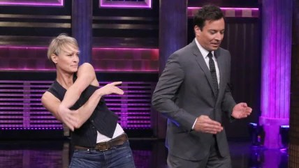 Image: Robin Wright, Jimmy Fallon