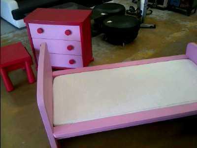 CHAMBRE ENFANT IKEA ROSE LIT COMMODECHEVET Doccasion