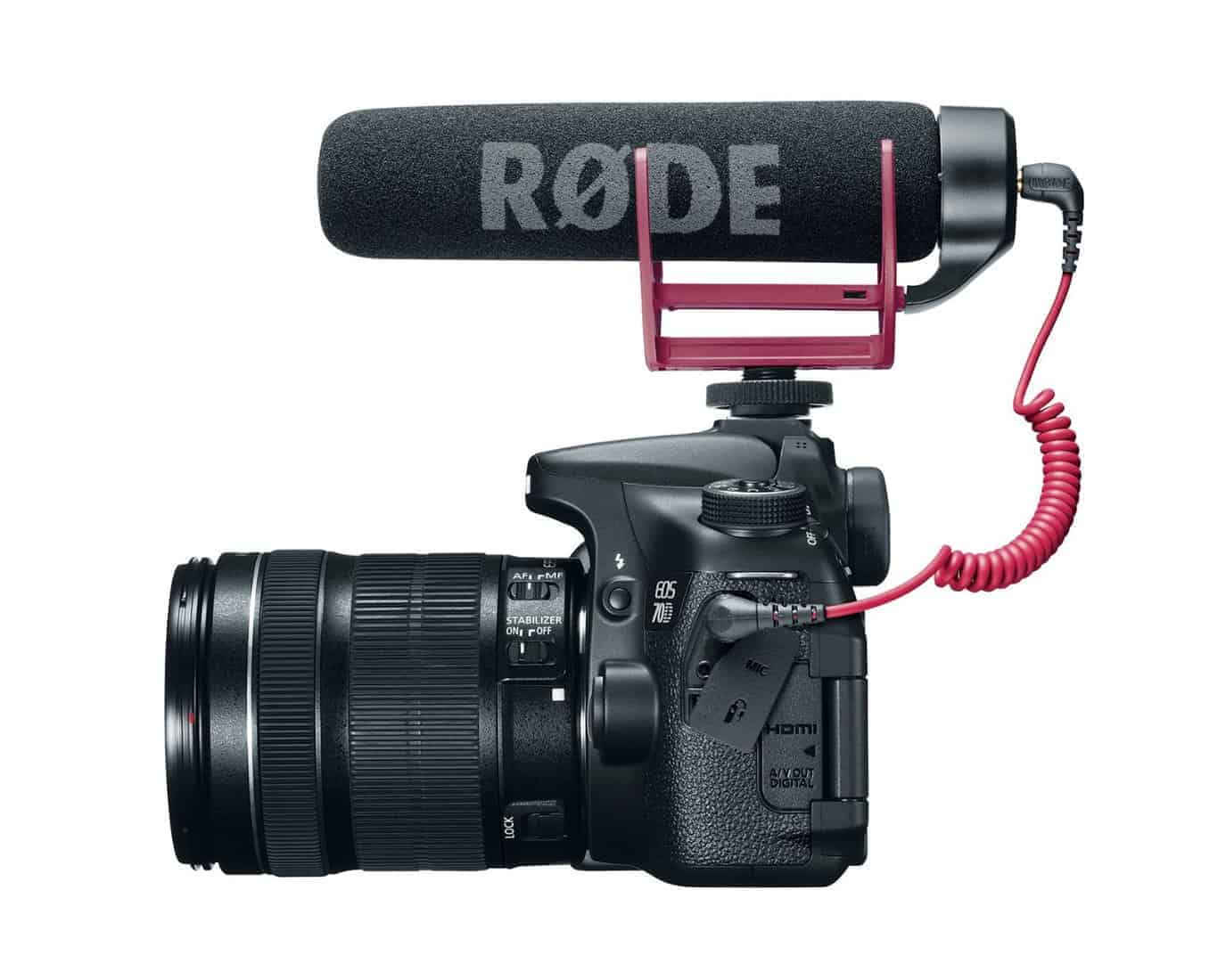 Having a rode mic permanently on your camera doesn't look too bulky, however it does add a 'professional' element to it, which may attract more people to look at him in public
