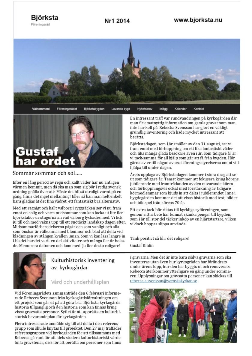 Infoblad 2 maj 2014