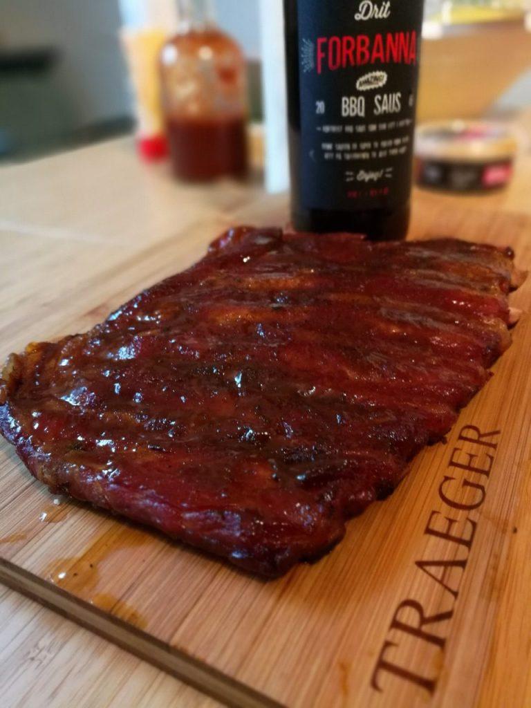 Drit Forbanna barbecue-saus er nydelig på spareribs
