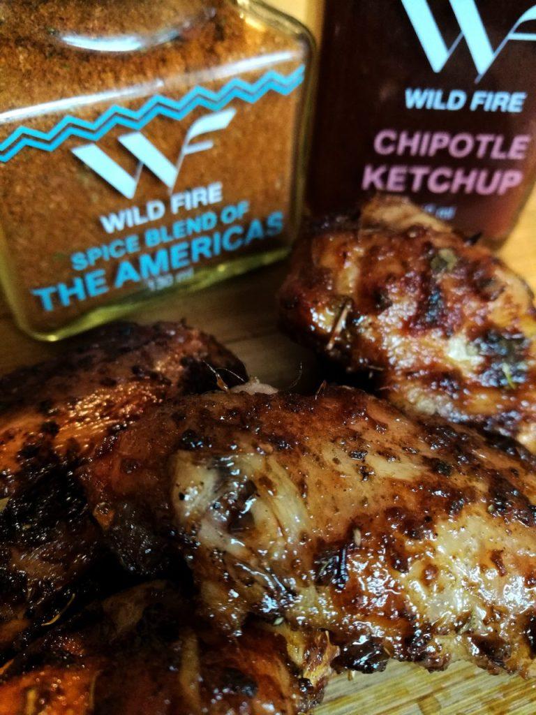 Kyllingvinger med spice blend of the Americas og Chipotle