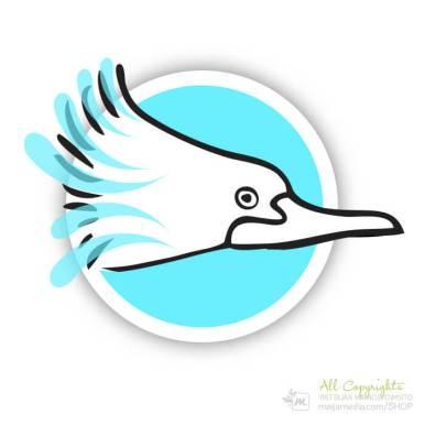 Logo: Lintu - Suunnittelija Maija Luomala