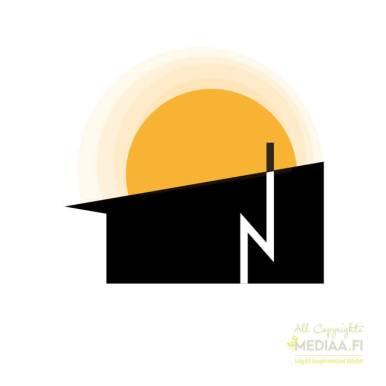 Logo: Talo nousevan auringon - Suunnittelija Maija Luomala, 2018