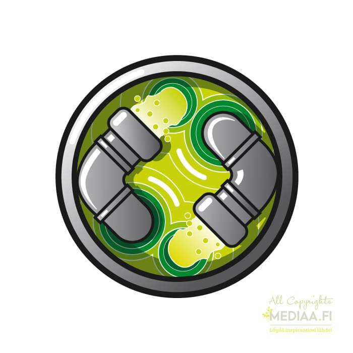 Logo: Saasteet - Suunnittelija Simon Geisor