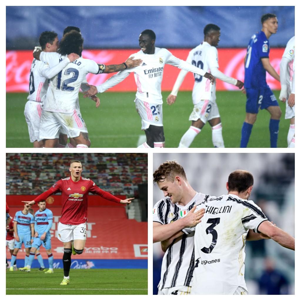La Juve en finale, Man United en quart et le Real enchaîne contre Getafe
