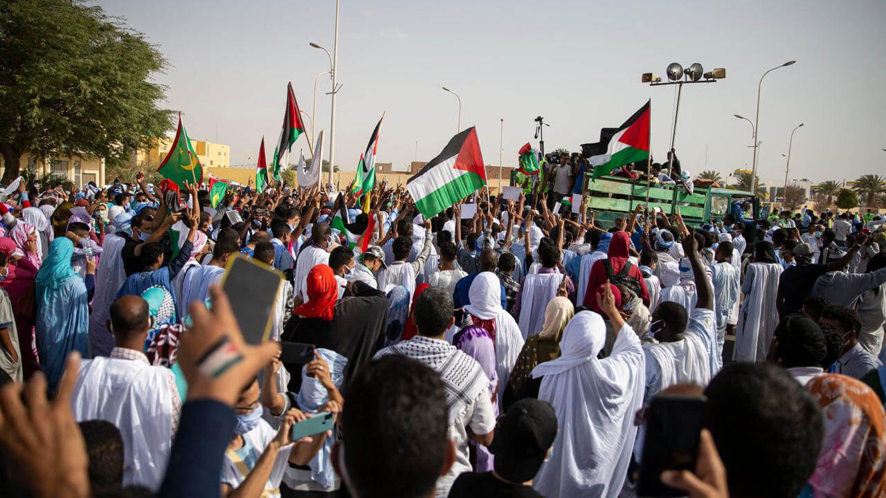 Soutien aux Palestiniens : des milliers de Mauritaniens dans les rues de Nouakchott