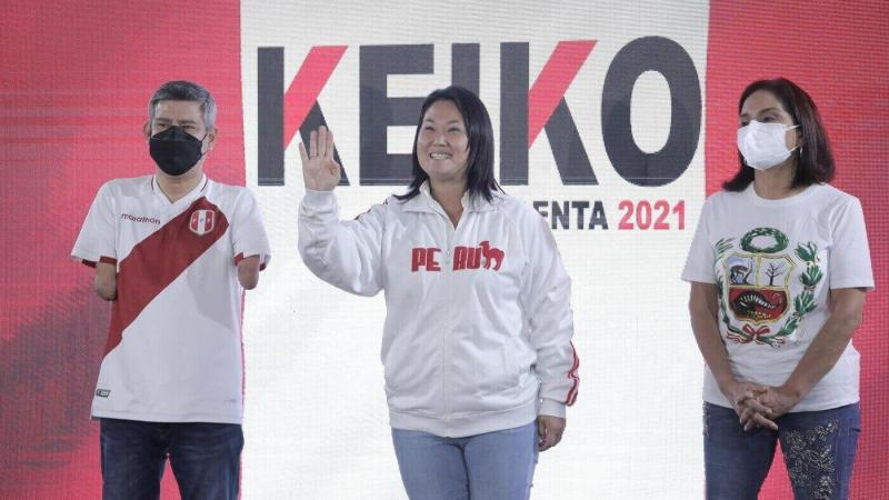 Présidentielle au Pérou: Keiko Fujimori en tête avec 52,9% des voix selon un résultat officiel partiel